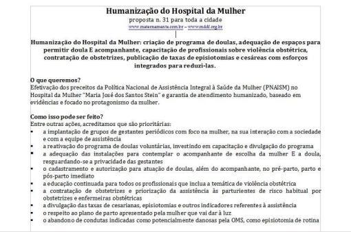 Proposta OP Humanização Hospital da Mulher jpg